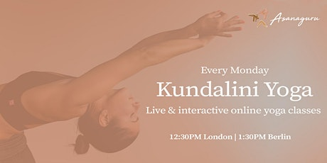 Kundalini Yoga Group Classes by Asanaguru | Mondays (Lunch time - Europe) tickets