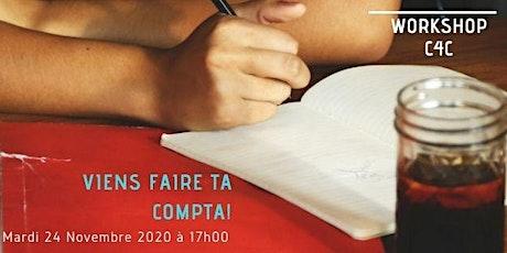 Workshop du 24 Novembre  2020 chez C4C, Ecole des métiers de la Gestion billets