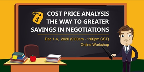 Cost Price Analysis the Way to Greater Savings in Negotiations tickets