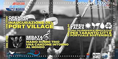 """Opening Ceremony - Green Talks - Serata Musicale con: """"Mario Rosini Trio"""" biglietti"""