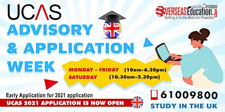 UCAS Information, Advisory & Application Week tickets