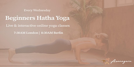 Hatha Yoga  | Group Classes for beginners | Wednesdays morning (Europe) tickets