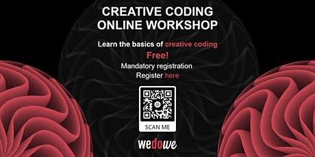 Creative Coding workshop for beginners (Online) tickets