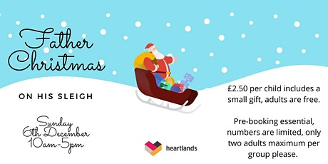Father Christmas on his sleigh at Heartlands tickets