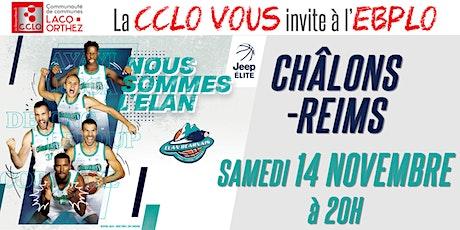 CCLO - EBPLO vs CHÂLONS-REIMS - 14/11/20 billets