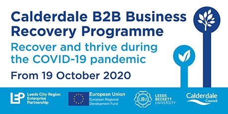 Calderdale B2B Business Recovery Programme -  Recover and Thrive tickets
