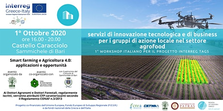 TAGs - Technological & business innovation services  for agri-food LAG biglietti