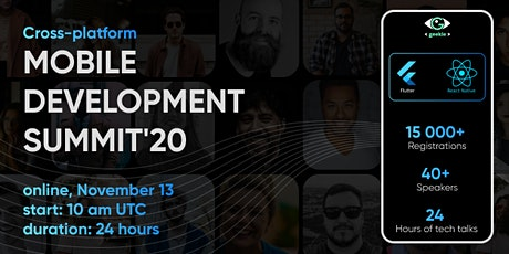 Cross-Platform Mobile Development Summit'20 tickets