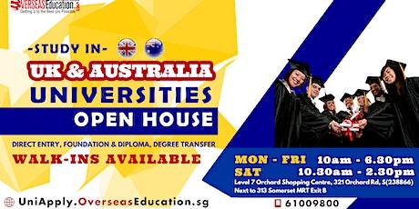 Study in UK & Australia Universities OPEN HOUSE tickets