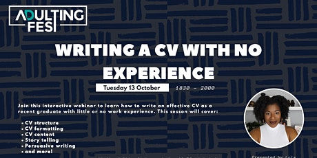 Writing A CV With No Experience tickets