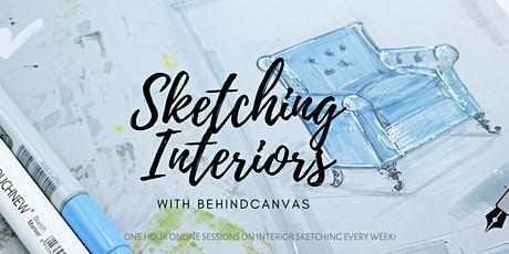 Online Interior Sketching Workshops tickets