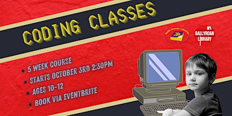 Coding Class - 5 Week Course for Kids tickets