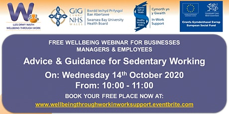 Advice and Guidance for Sedentary Working tickets