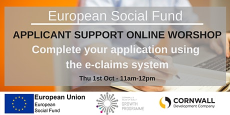 Completing your ESF funding application using the e-claims system tickets