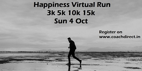 HAPPINESS RUN: FREE Virtual Run / Ride - Sunday 4th Oct 2020 tickets