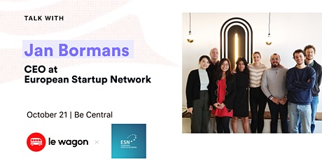 Apero Talk with Jan Bormans, CEO at European Startup Network tickets