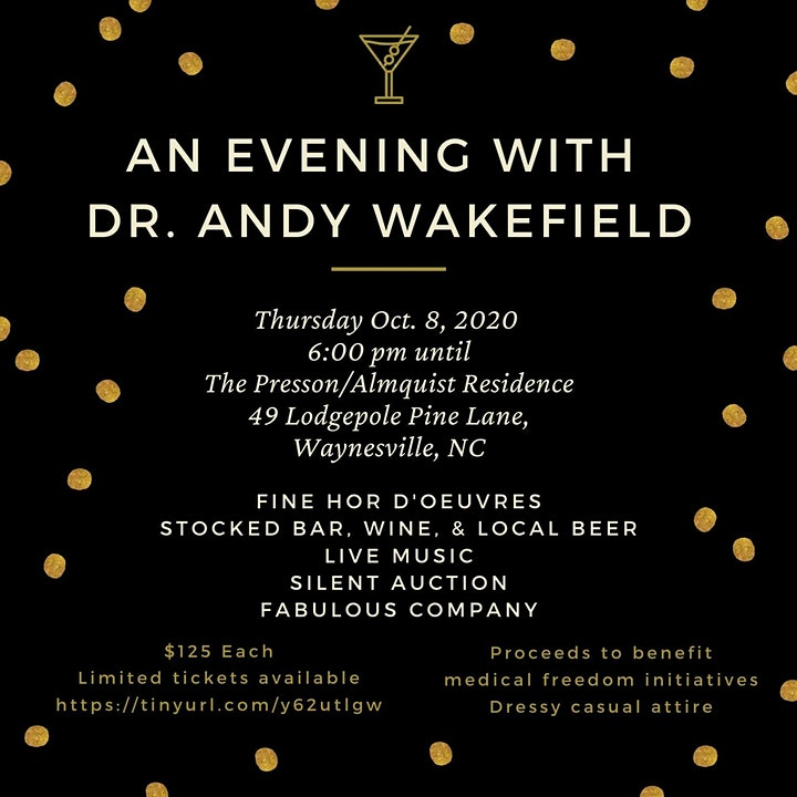 An Evening with Dr. Andy Wakefield image