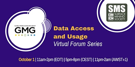 GMG - SMS/CIM Virtual Forum: Data Access and Usage tickets