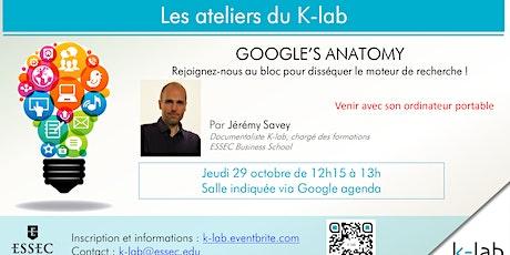 K-lab Workshops - Google's anatomy - ouvert à tous billets