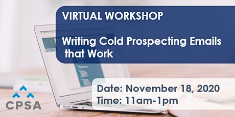 Virtual Workshop: Writing Cold Prospecting Emails that Work tickets