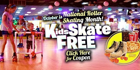 Kids Skate Free Saturday 10/3/20at 12pm (with this ticket) tickets