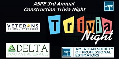 3rd Annual ASPE Construction Trivia Night Fund Raiser for VCP Tiny Houses tickets