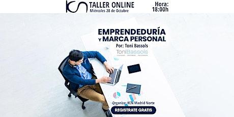 """TALLER ONLINE: """"Emprendeduría y marca personal"""" entradas"""