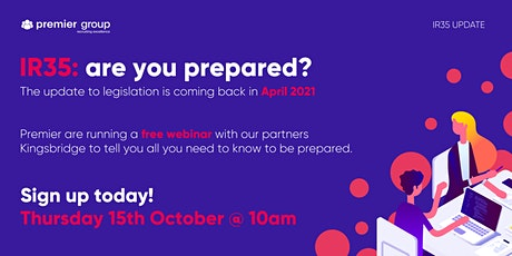 IR35 - are you prepared? tickets