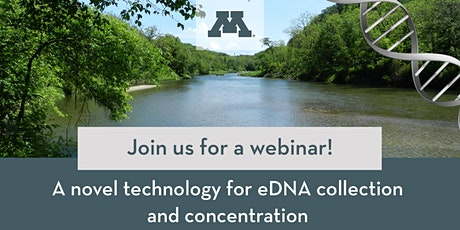 Webinar: A novel technology for eDNA collection and concentration tickets