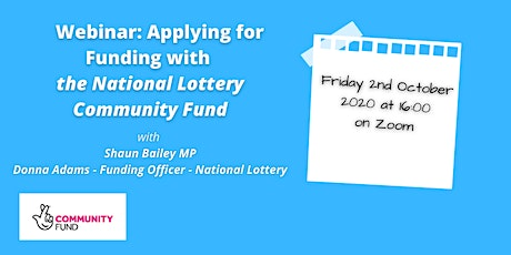 Training Session: Applying for Funding with the National Lottery Fund tickets
