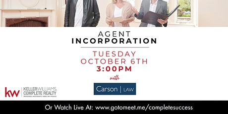 PREC - Agent Incorporation with Carson Law tickets