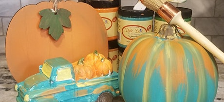 Pumpkin signs and decor! Blending and fun! tickets