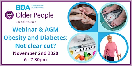 Obesity and Diabetes in Older People - Not Clear Cut? tickets