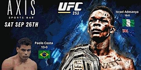 Adesanya vs Costa :: UFC 253 :: RTB Fight Night tickets