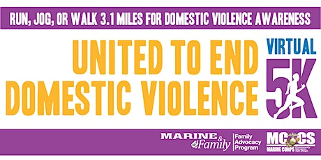 United to End Domestic Violence MCRD SD Virtual 5K tickets