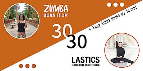 30/30 Zumba Dance + Lastics Stretch tickets