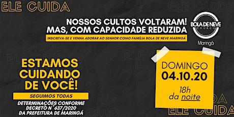 CULTO DOMINGO (04/10) 18h00 ingressos