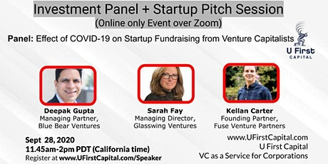 Investment Panel + Startup Pitch Session by U First Capital (Zoom only) tickets
