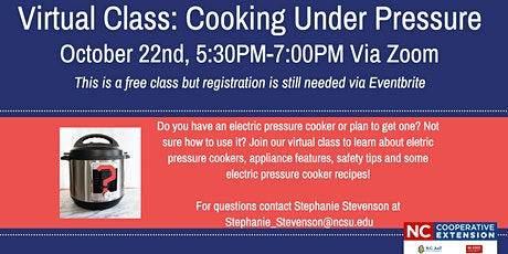 Virtual Class: Cooking Under Pressure tickets