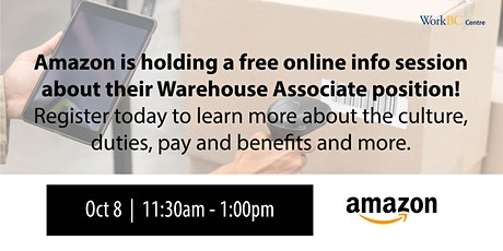 Who's Hiring? Amazon Fulfillment Centres tickets