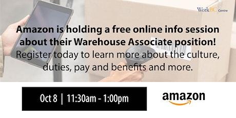 Who's Hiring? Amazon Fulfillment Centres tickets