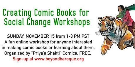 Creating Comic Books for Social Change with Priya's Shakti Comics tickets