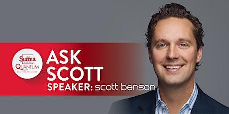 VIRTUAL: Q & A with Scott Benson tickets