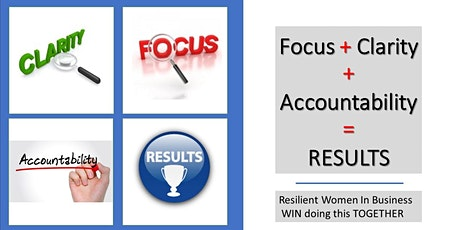 Clarity + Focus + Accountability = Results - Workshop  with11 zoom meetings tickets