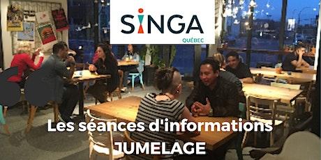 Séance d'information - Projet jumelage Singa Québec billets