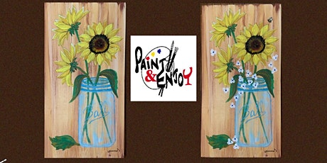 """Paint and Enjoy-Delta Pizza""""Sunflowers"""" on Wood tickets"""