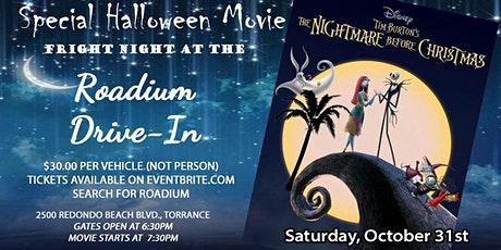 NIGHTMARE BEFORE CHRISTMAS - Presented by the Roadium Drive-In tickets