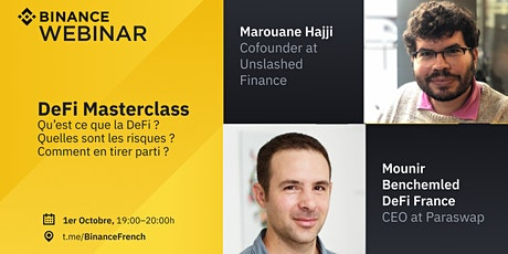 Binance France Webinar : Webinaire DeFi : la Finance Décentralisée tickets
