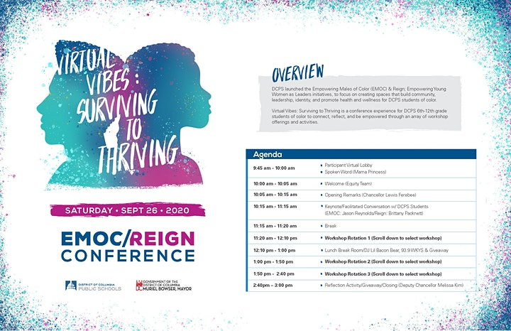 DCPS EMOC/Reign Conference; Virtual Vibes: Surviving to Thriving image