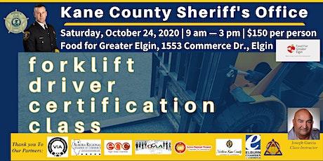 Forklift Driver Certification Class tickets